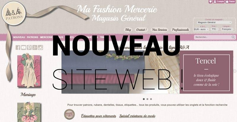 Nouveau design site A et A patrons