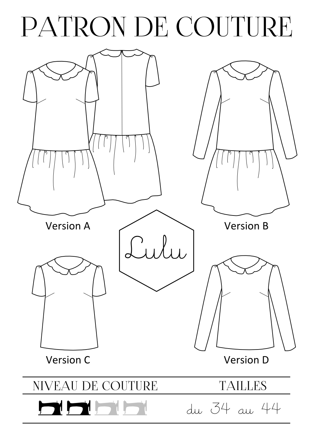 Lulu dress versions