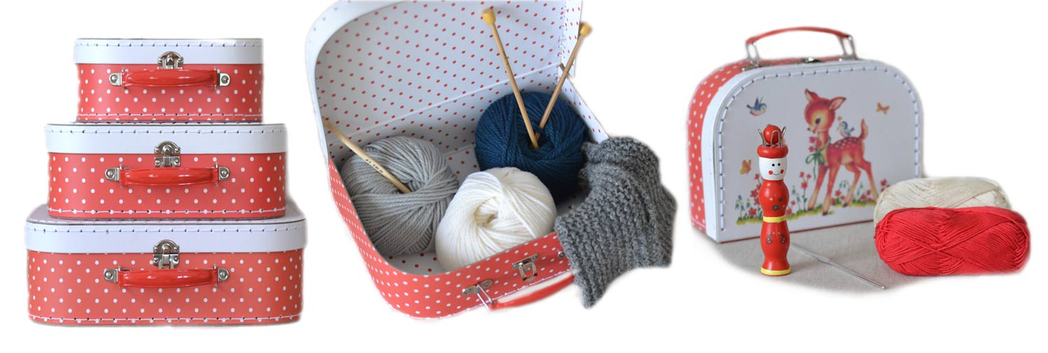 knitting crochet kit, crochet and spool knitting for children