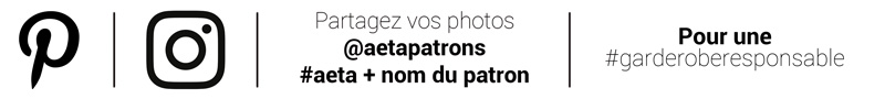 Partagez et suivez A&A sur Pinterest et instagram