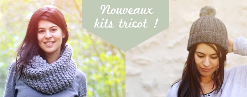 nouveaux kits tricot