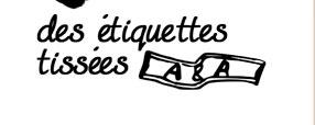 Etiquettes tissées ou imprimées