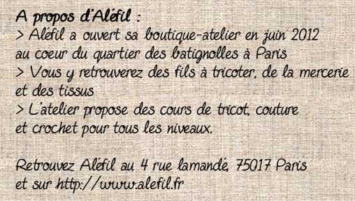 Aléfil la boutique atelier à Paris 17ème