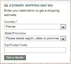 Estimate Shipping and Tax